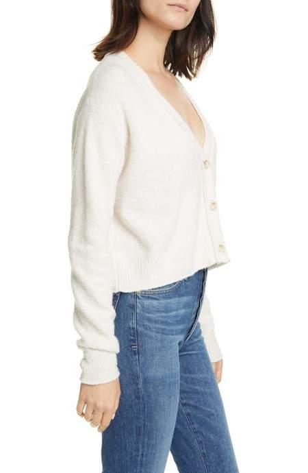 Line Knitwear Edie Knit Cardigan - Powder