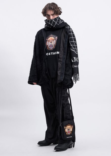 Facetasm Snarling Lion T shirt - Black