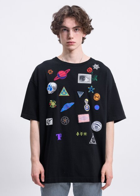 Facetasm Space Patch T shirt - Black