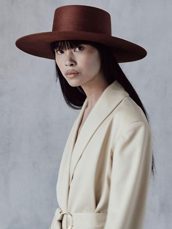 Janessa Leone Aléa Hat - Burnt Orange