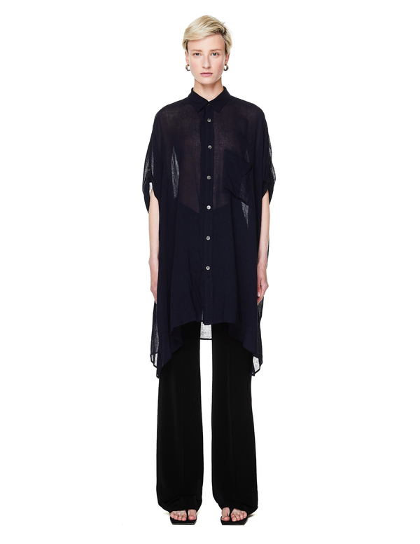 Y's Sleeveless Shirt - Navy Blue