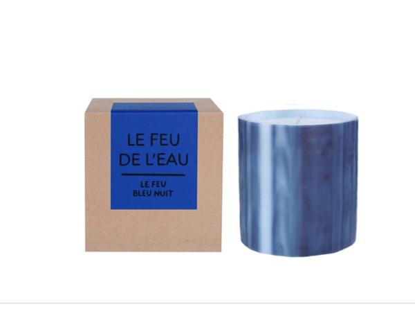 Le Feu De L'Eau Candle - Bleu Nuit