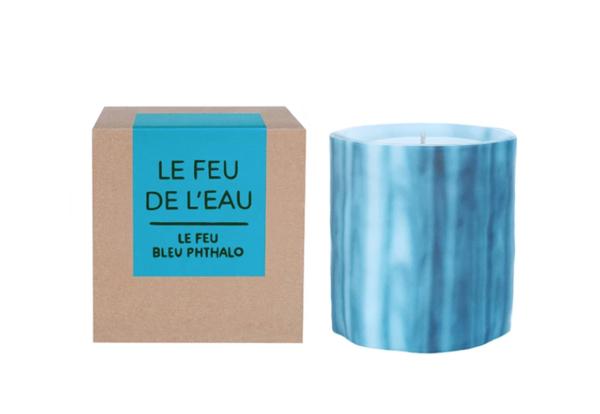 Le Feu de L'eau Night Blooming Jasmine Candle - Phthalo Bleu