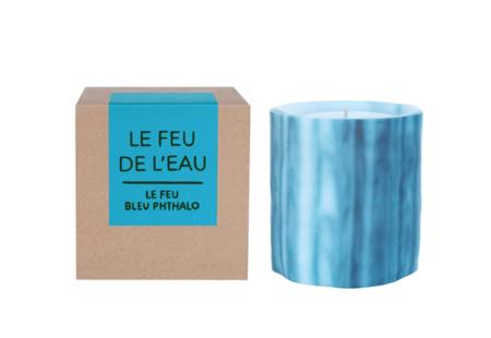 Le Feu De L'Eau Phthalo Bleu Candle