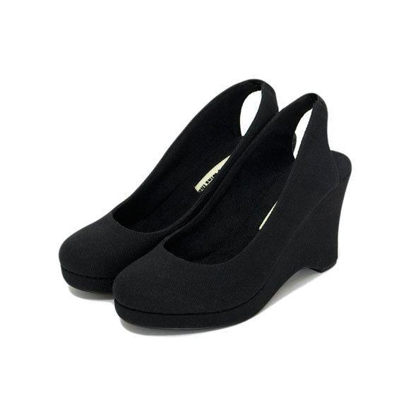 Wedge Slingback in Black