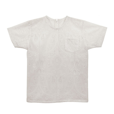Slow and Steady Wins the Race White T-Shirt in Lace