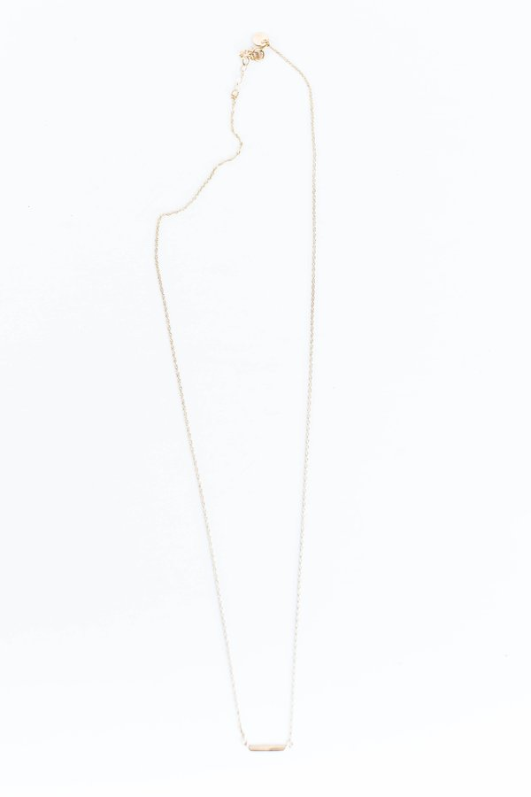 Blanca Monrós Gómez ID BAR NECKLACE - 14K gold