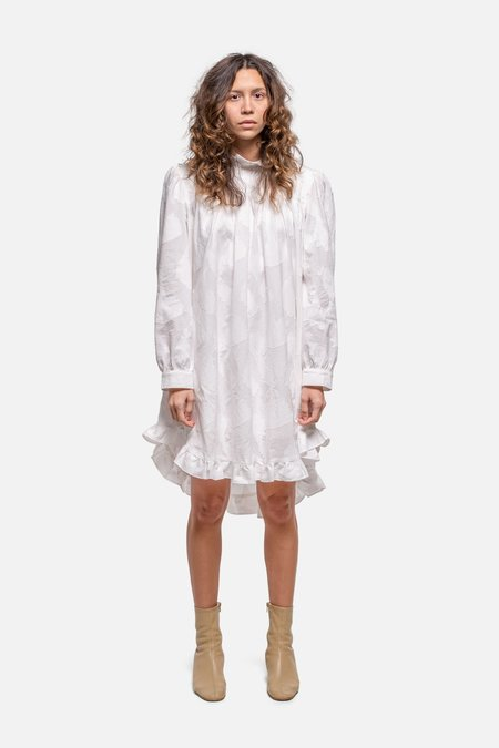 House of St. Clair DOLLY DRESS - WHITE JACQUARD