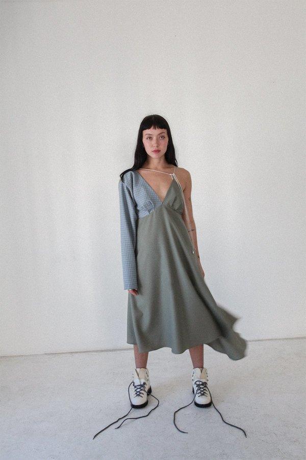 KkCo Long Sleeve Climber Dress - Mixed Wool
