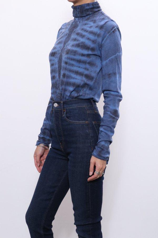 Raquel Allegra Jersey Long Sleeve Turtleneck - Aqua