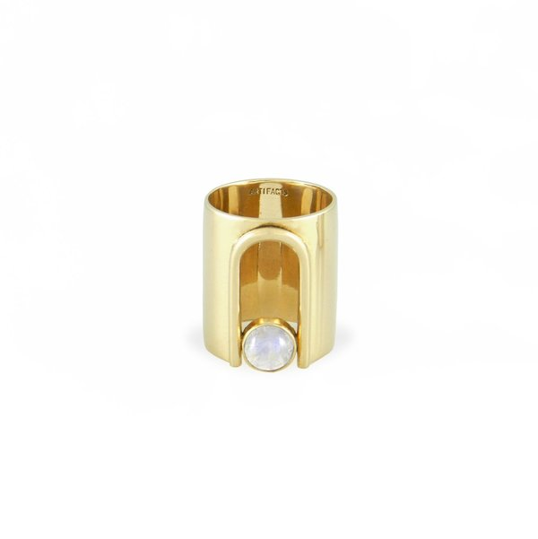 Artifacts Archway Ring - Brass/Mother of Pearl