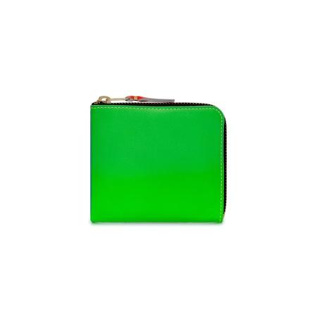 Comme des Garçons 1/2 Zip Wallet Neon SA3100SF - Green/Orange