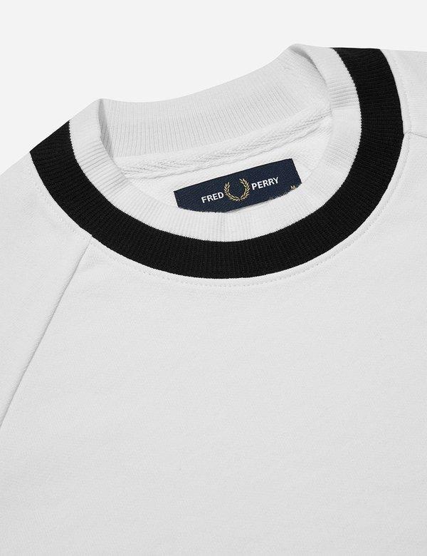 Fred Perry Raglan Sweat Top T-shirt - Snow White
