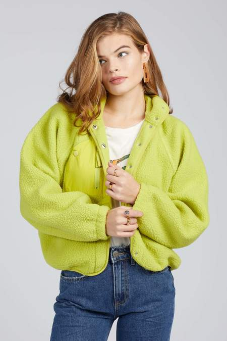Free People Hit The Slopes Jacket - Lime