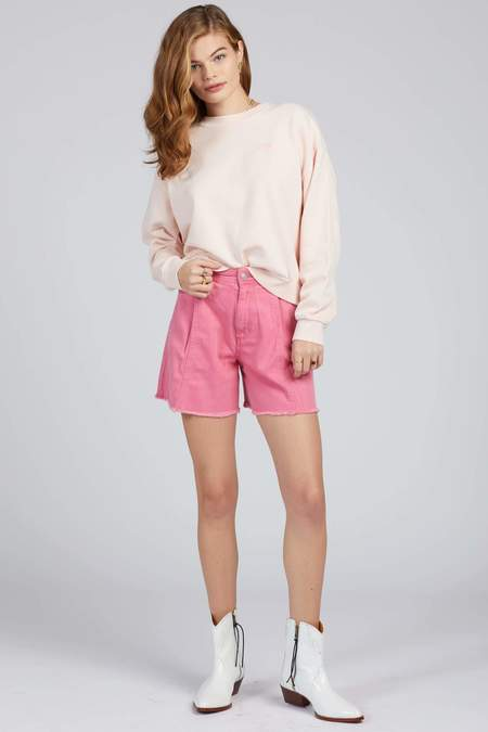 Free People Amelie A-Line Short - Pink