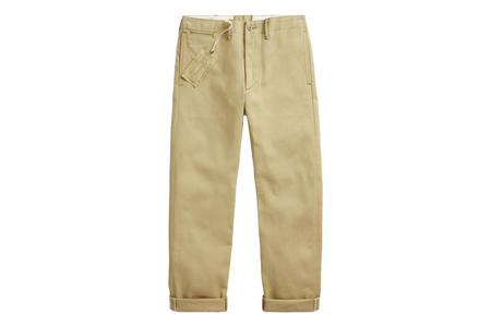 RRL Limited Edition Officer Chino - Selvedge Khaki