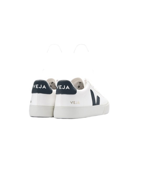 VEJA Campo Chromefree Leather Shoes - White Nautico