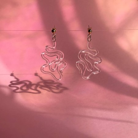 Wasted Effort INKJET EARRINGS