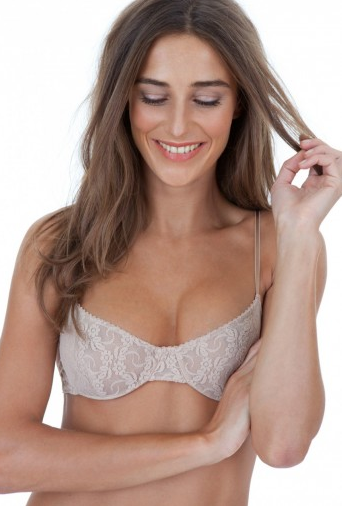 Only Hearts - Stretch Lace Underwire Bra in Grey Pearl