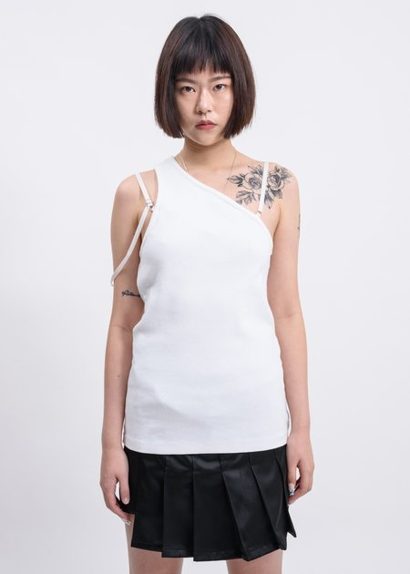 Helmut Lang Femme One Shoulder Top - Chalk White