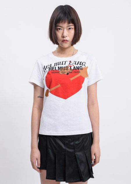 Helmut Lang PZ Standard Baby T Shirt - Chalk White