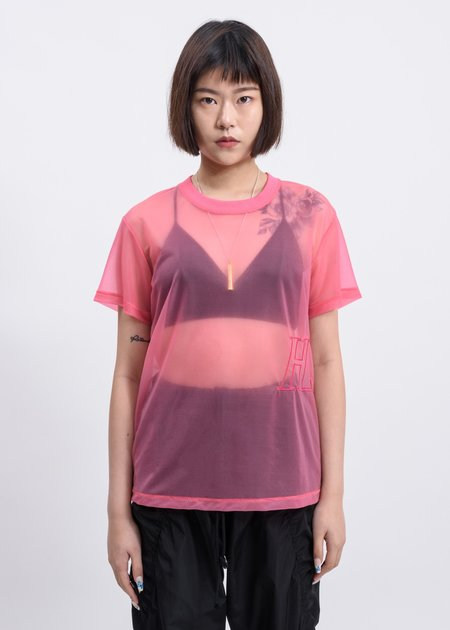 Helmut Lang Prism Masc Little Tee - Pink