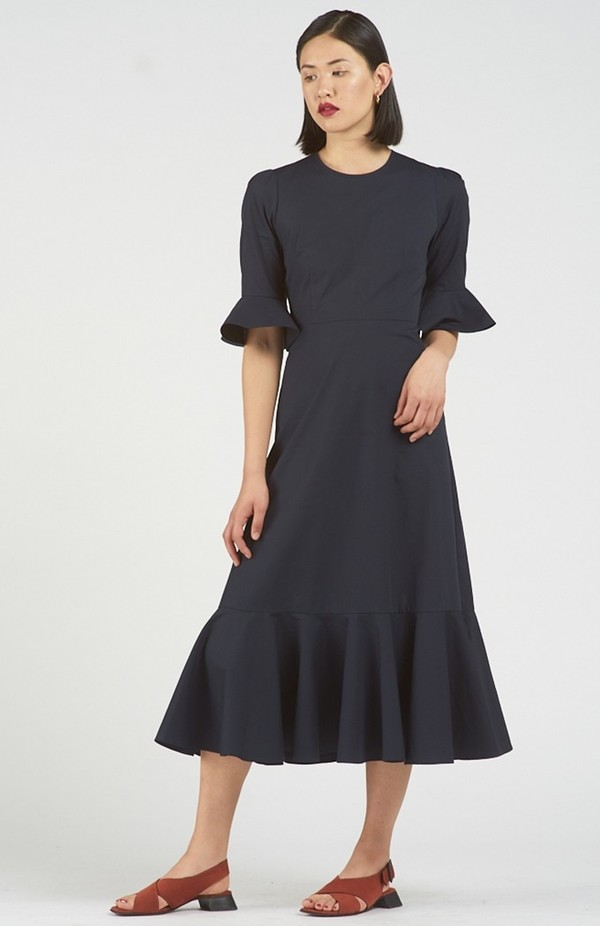 Again & Again The Midnight Dress Organic Cotton - Navy