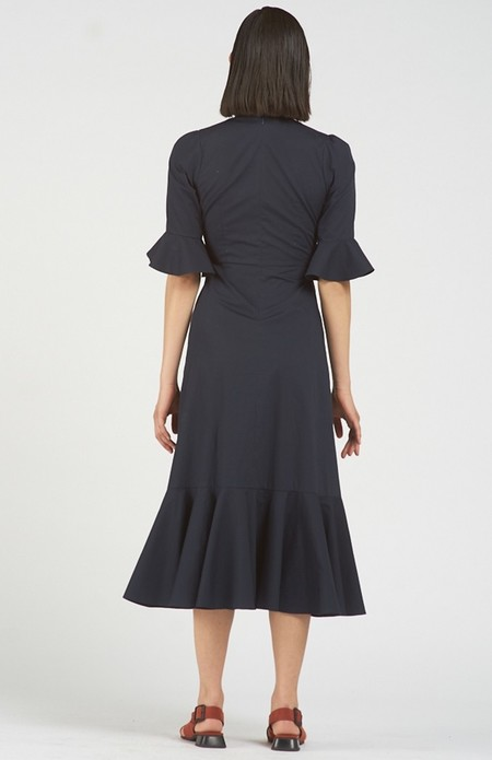 Again & Again The Midnight Dress Organic Cotton - Navy