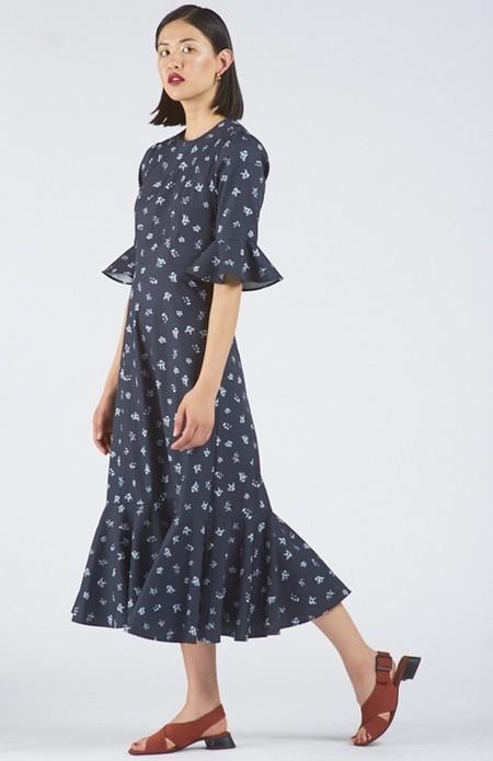 Again & Again The Midnight Dress Organic Cotton - Floral