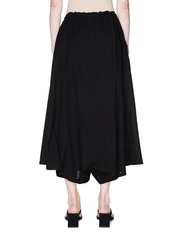 Y's Cotton Sarouel Trousers - Black