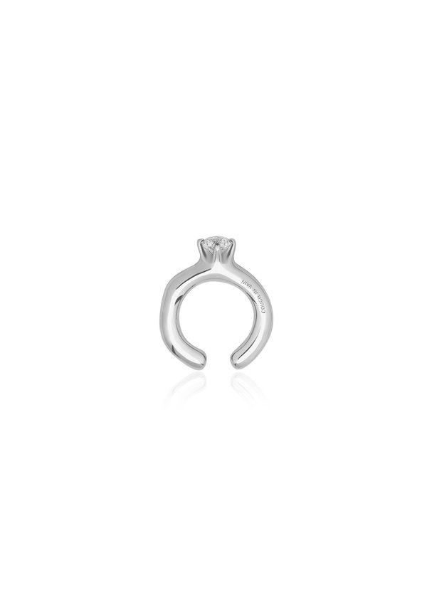 Unisex Cough In Vain Jewel Ring Shaped Earring Clip
