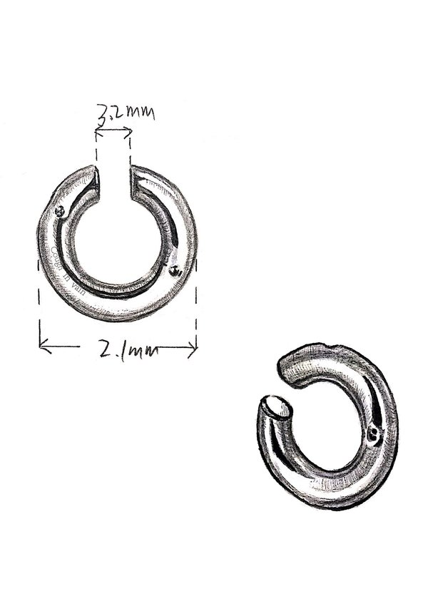 Unisex Cough In Vain Seal Round Ear Clip