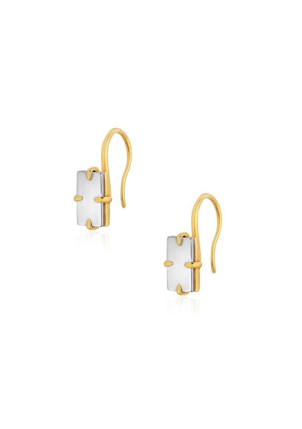 Unisex Cough In Vain Square Mirror Shaped Earring
