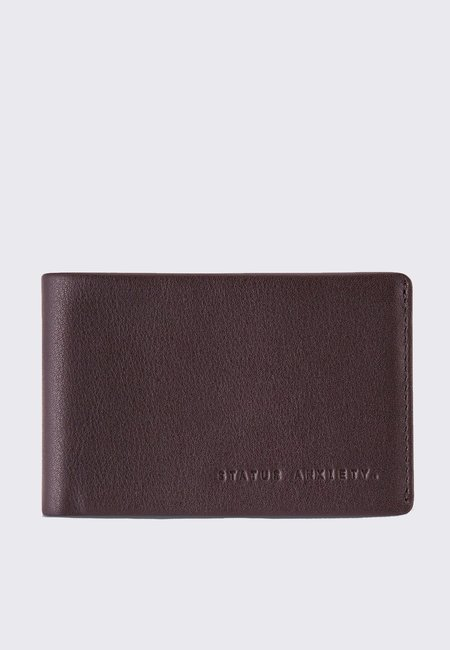 Status Anxiety Quinton Wallet - chocolate