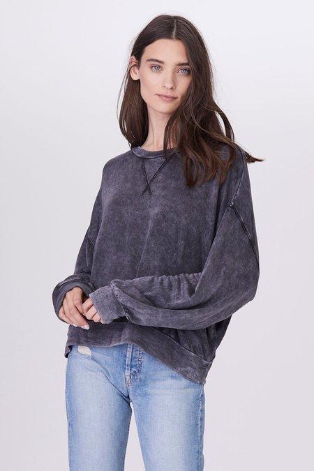 LnA Mineral Wash Rixo Pullover - Black Mineral