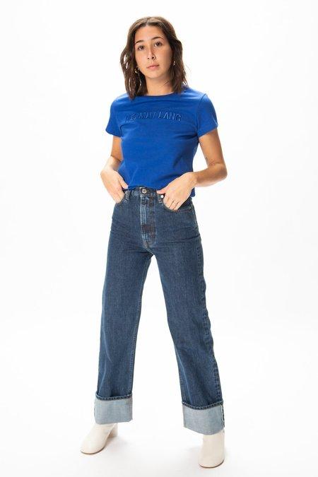 Helmut Lang Femme Hi-Straight Jeans - Dark Stone Wash