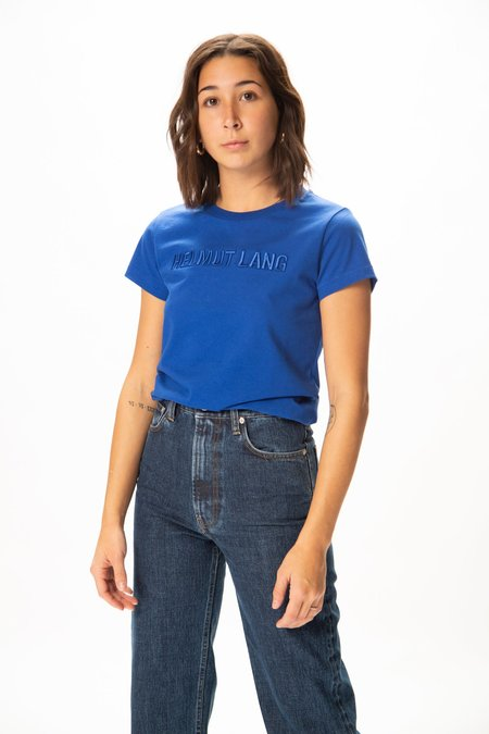 Helmut Lang Standard Raised Embroidery Baby T Shirt - Azurite