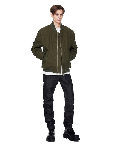 Vintage Readymade Cotton Bomber Jacket - Khaki