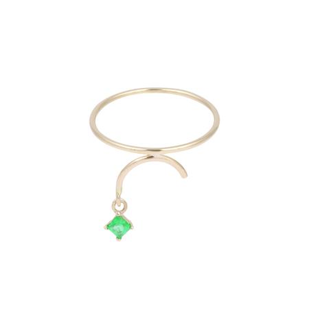 Tara 4779 Arc Ring - Emerald