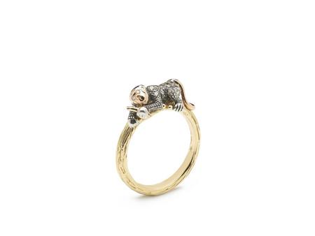 Bibi Van Der Velden Monkey Stackable Ring - 18K Gold