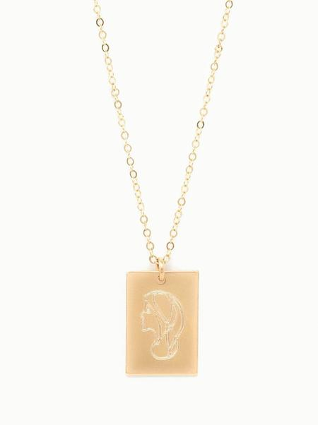 ABLE Worth Portrait Tag Necklace