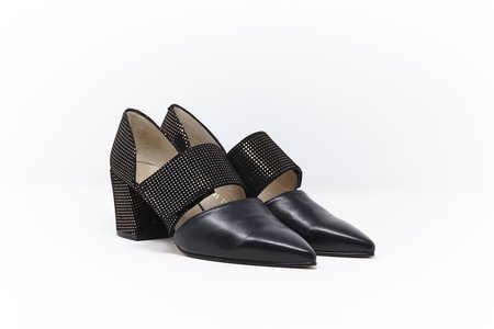 5yMedio Lorenza Strash Rame Heel - Black
