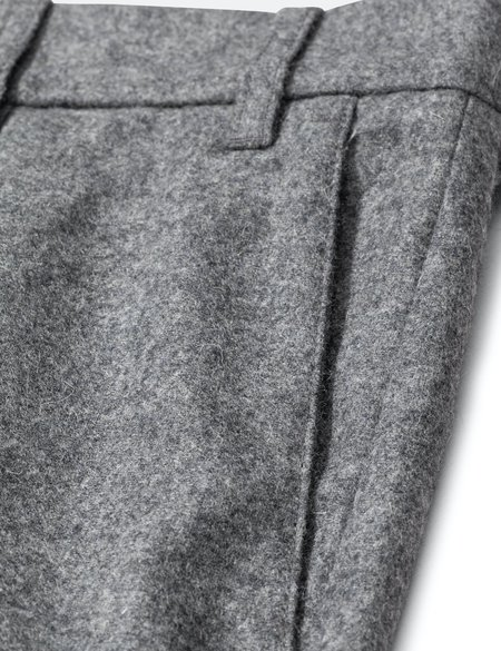 Norse Projects Aros Wool Chino - Charcoal Melange