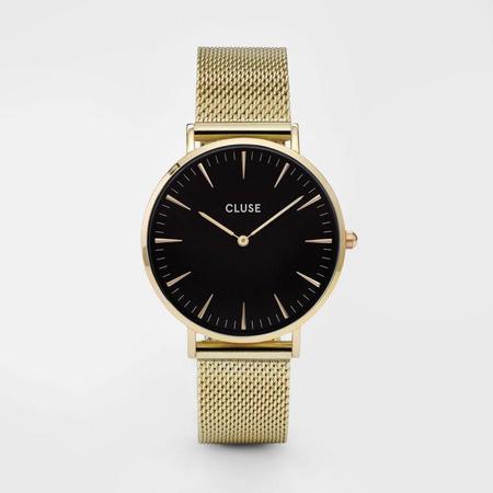 Cluse La Bohème Mesh Watch - Gold/Black