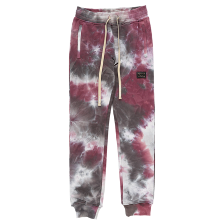 Well Known Houston Sweatpants - Burgundy Tie Dye