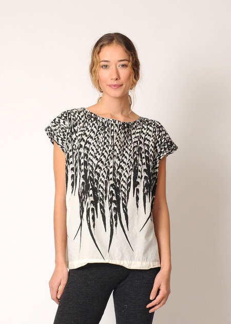 Uzi NYC Uzi Feather Tunic - White