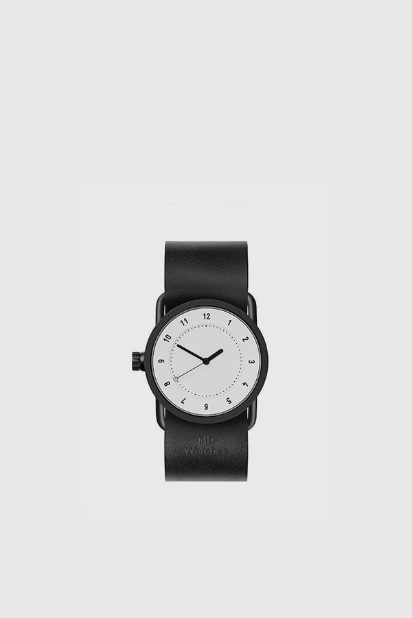 TID Watches Leather Wristband No. 1 33mm - White / Black