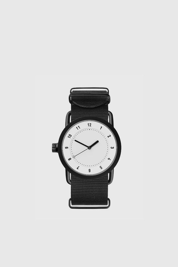 TID Watches No. 1 36mm Nylon Wristband Watch - White/Black
