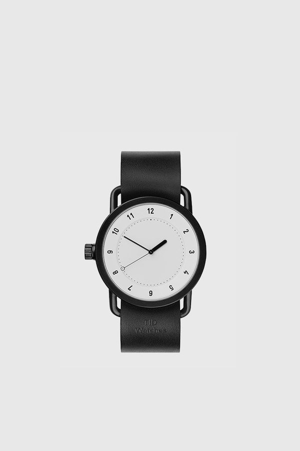 TID Watches No. 1 40mm Leather Wristband Watch - White/Black