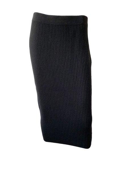 Naadam Ribbed Skirt - Black